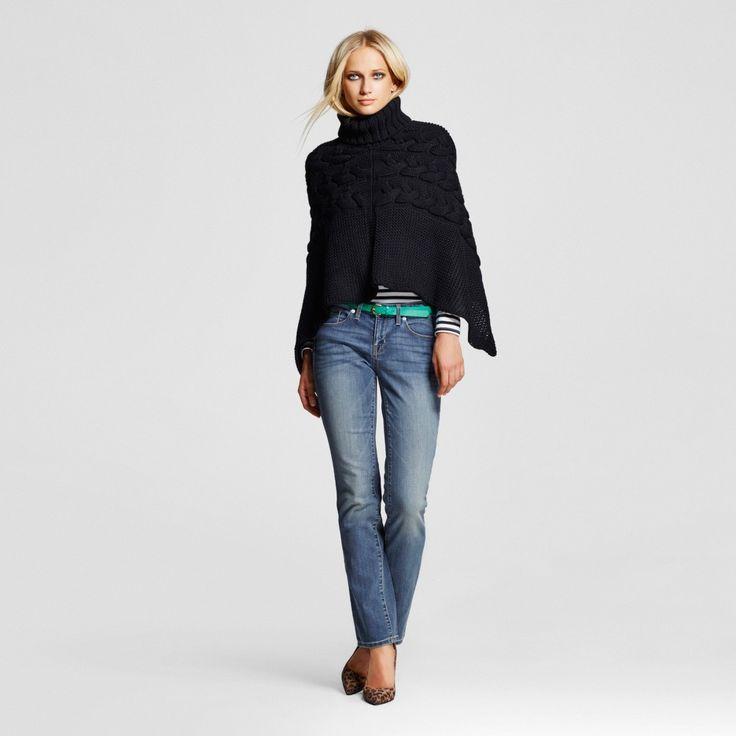 Women's Mid-rise Straight Leg Jeans (Modern Fit) Medium Wash 10 Short - Mossimo, Blue
