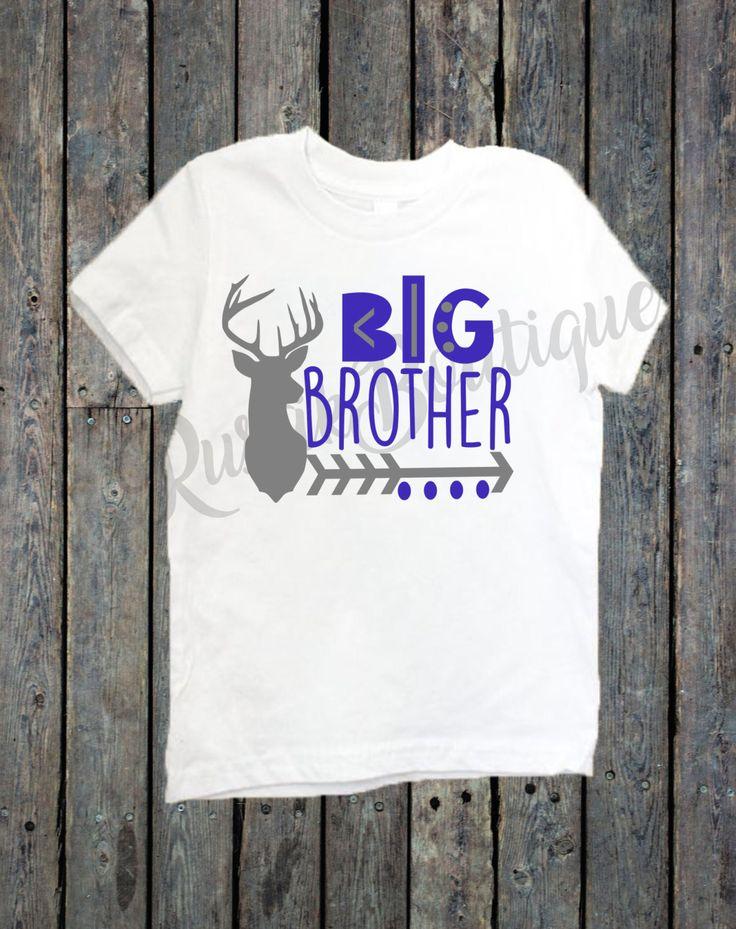 Big Brother Shirt/ Big Sister Shirt/ Sibling shirts/ Deer head shirt/ Tribal shirts/ big bro/ big sis/ hunting girl/ hunting boy by RustikBoutique on Etsy