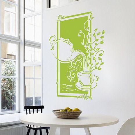Трафареты на стену кухни