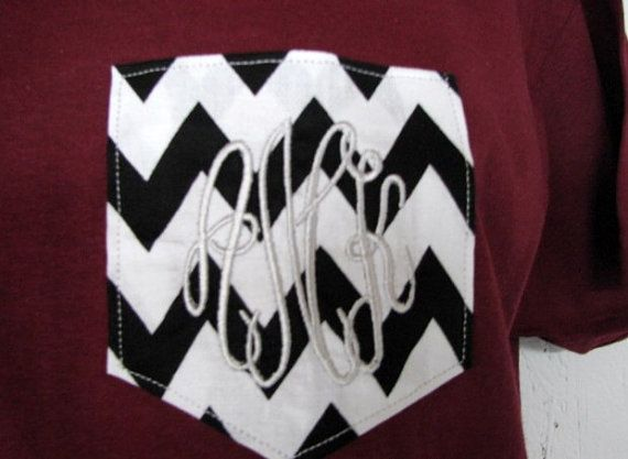 Hey, I found this really awesome Etsy listing at http://www.etsy.com/listing/160167833/monogrammed-gifts-maroon-chevron-pocket