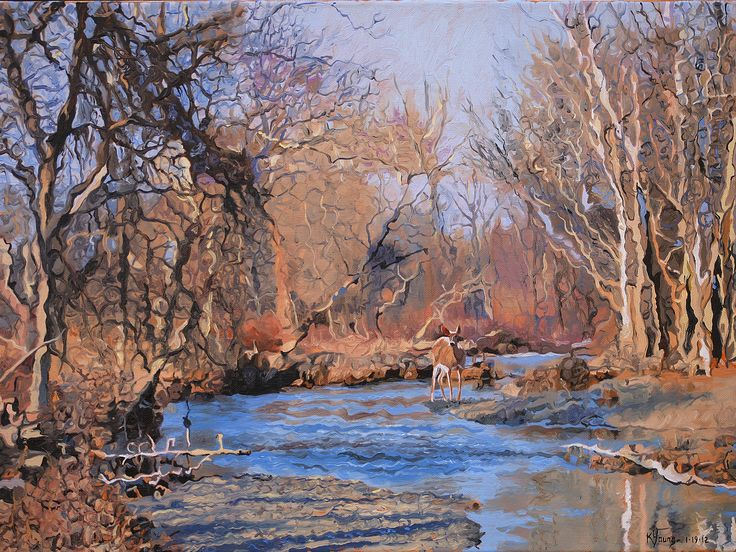 Late Autumn Landscape oil painting by Kenneth Young www.kenyoungfineart.com