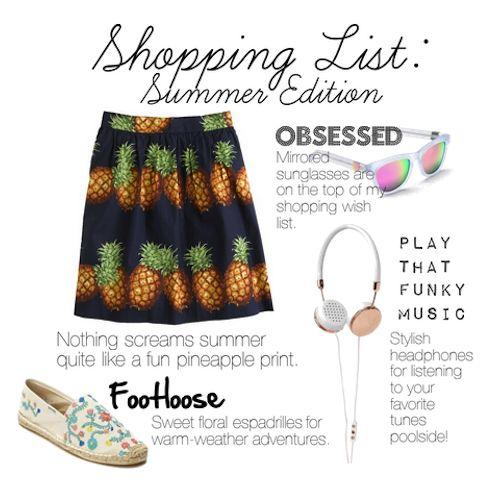 Shopping List: Summer Edition