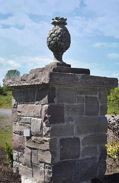 Construction Of A Stone Pillar : Best images about retaining wall on pinterest canada