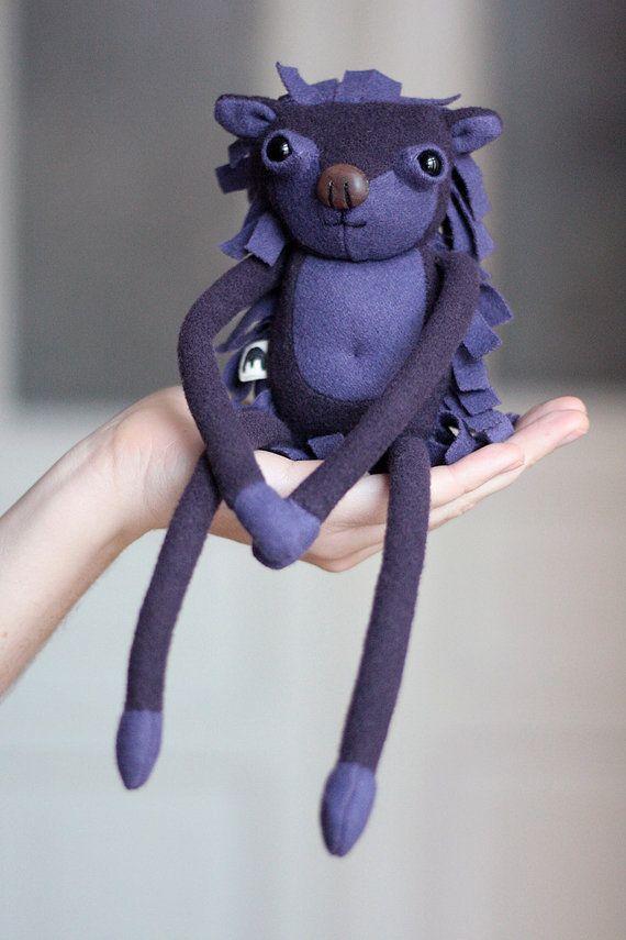 Muta  mutant Jeremi with magnetic paws  wool & wood by MUTAtoys