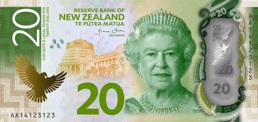New Zealand New $20 Note Featuring Queen Elizabeth II