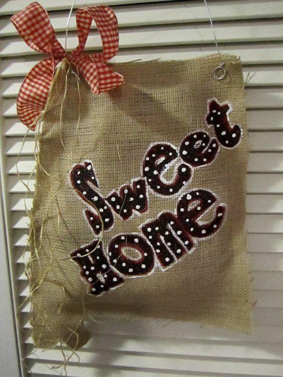 Sweet Home Alabama Burlap Door Hanging. $22.00, via Etsy.