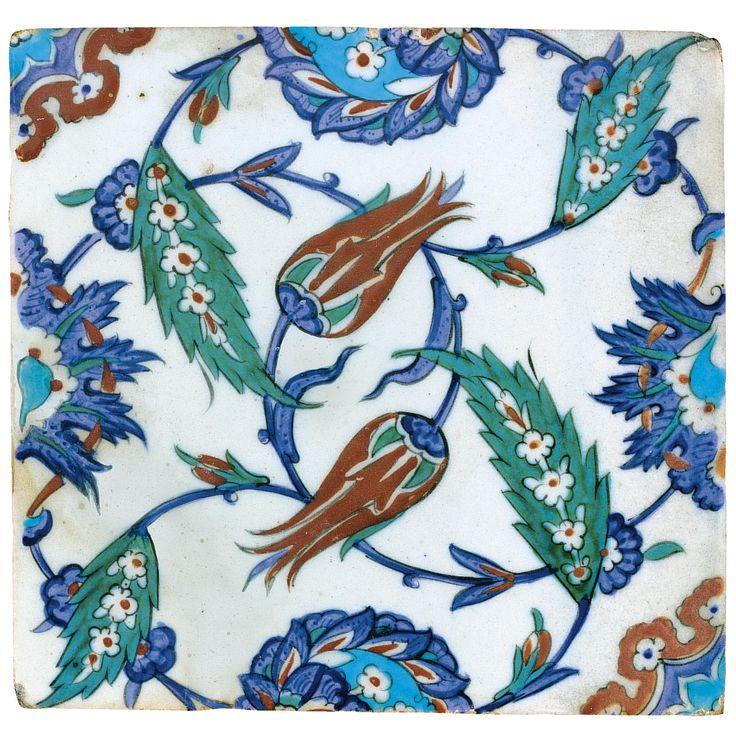 An Iznik Polychrome tile, Turkey, circa 1575
