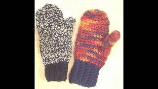 how to crochet mittens for beginners - YouTube