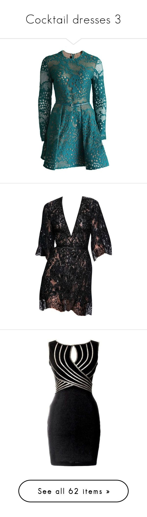 """""""Cocktail dresses 3"""" by joanna-tabakou ❤ liked on Polyvore featuring dresses, petrol, sleeved dresses, elie saab cocktail dress, blue dress, lace cocktail dresses, lace dress, white sleeve dress, long-sleeve mini dress and short dresses"""