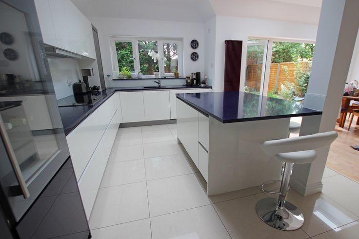 Large open plan island kitchen