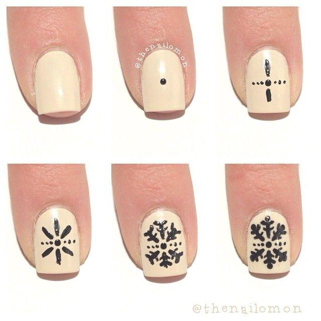Snowflake Nail Art Tutorial: Best 25+ Snowflake Nails Ideas On Pinterest