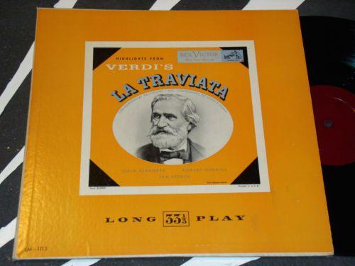 1946  Highlights from Giuseppe Verdi Opera La Traviata RCA Records LP 1946 | eBay