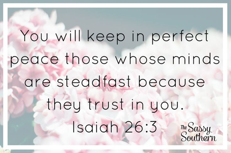 Peaceful and Encouraging Scripture FREE Printable | Isaiah 26:3 Bible Verse | thesassysouthern.com