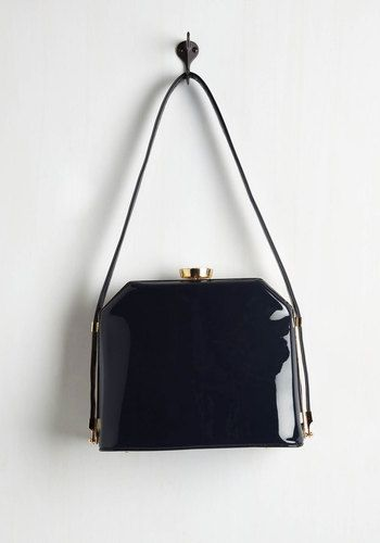 Who's the Gloss? Bag. Why, it must be you - looking as posh as you do with this faux-leather bag in tow! #blue #modcloth