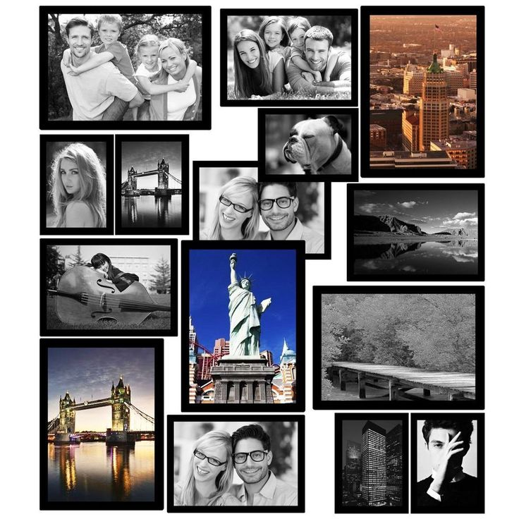 Magnetic Picture Frames Photo Collage Frame Refrigerator 15 Pack 3 Sizes Gift #HomeDecor #Modern