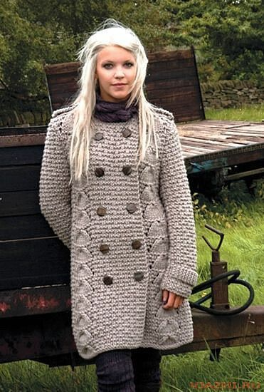 ВЯЗАНОЕ ПАЛЬТО / KNITTED COAT http://mslanavi.ru/post343687862/