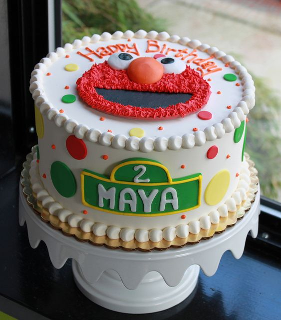 Dotty Elmo Birthday Cake by Whipped Bakeshop, via Flickr
