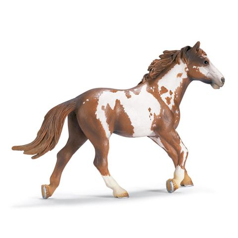 Schleich Pinto Stallion Figurine. One of several beautiful figurines available from Wild Hooves http://www.equinetrader.co.nz/directory/wild-hooves-gifts/