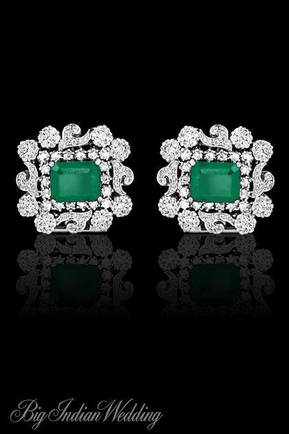 AS Motiwala diamond earrings