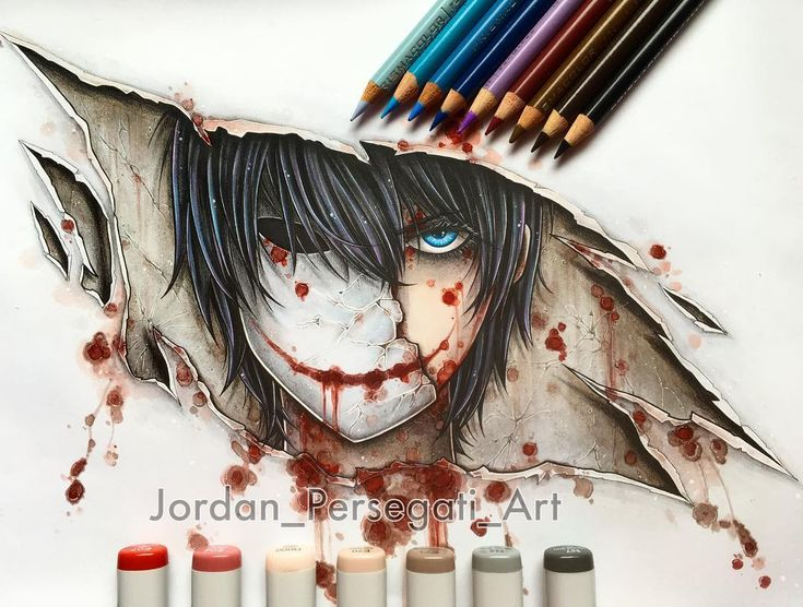 """7,573 Likes, 91 Comments - Jordan Persegati (@jordan_persegati_art) on Instagram: """"My Bloody Painter creepypasta video will be up on my YouTube channel this Friday!  Lots of texture…"""""""