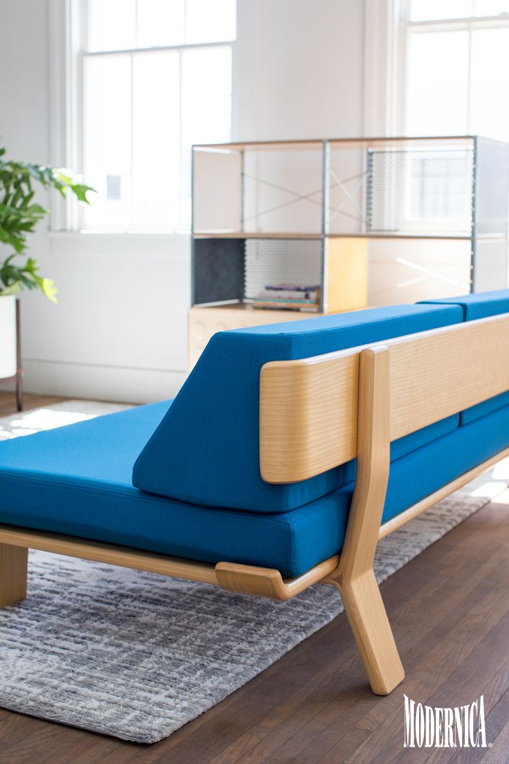 Product Spotlight  Case Study Alpine Daybed   Modernica Blog Case Study   Bentwood Daybed Corner Section