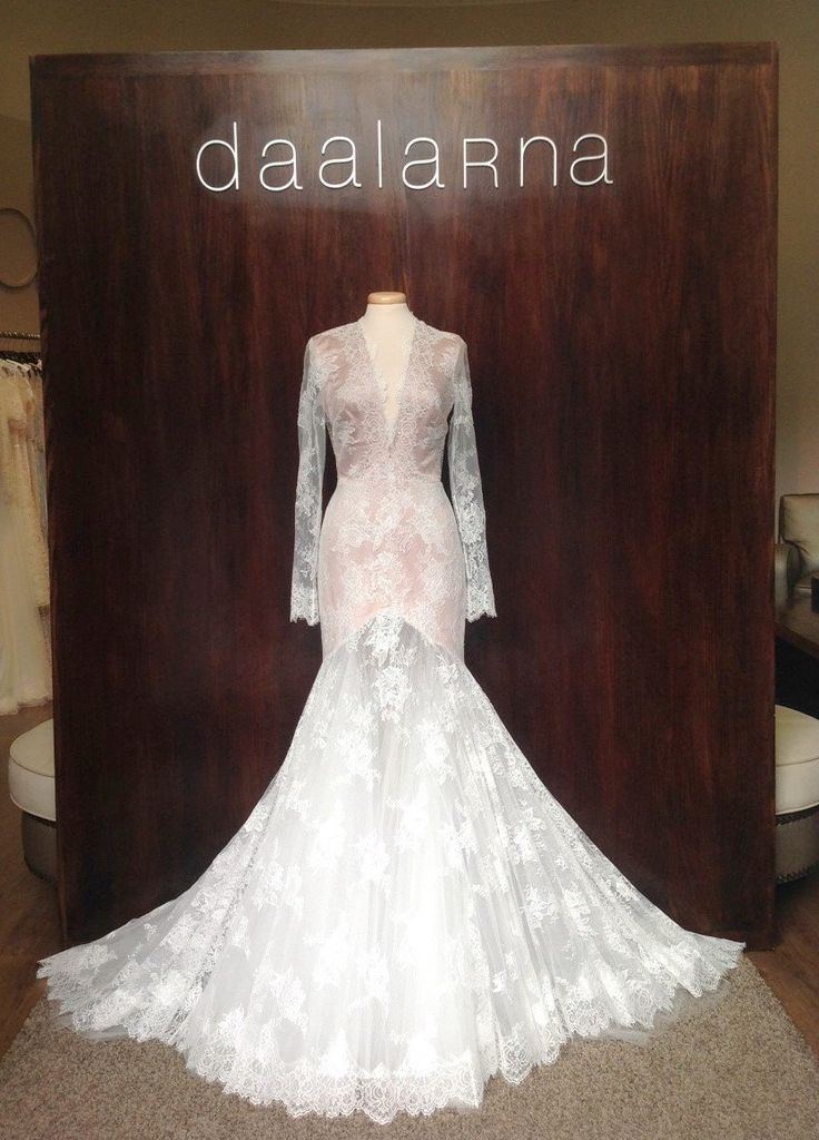 December 2014_Long-sleeve Daalara Couture Lace Wedding dress