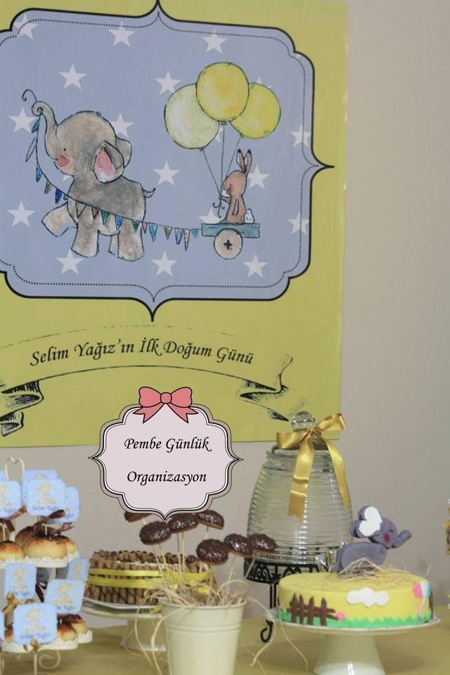birthday,boy,elephant party,baby shower,party,butik pasta,doğum günü,turkey, pembe günlük,cupcake,afiş,erkek bebek,baby,yellow party, catch my party,