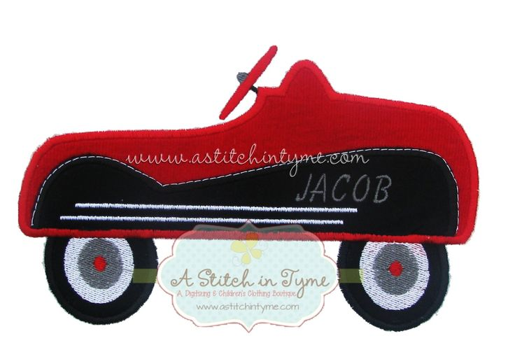 Silver - Vintage Toy Truck Applique by A Stitch in Tyme - The Applique Circle