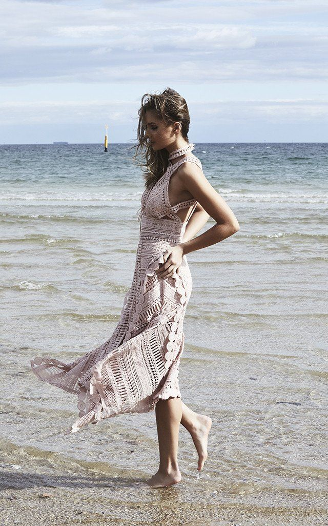 Thurley - Moon Over Water Midi Dress