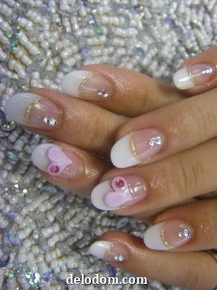 Маникюр на День святого Валентина: фото ногтей на День влюбленных