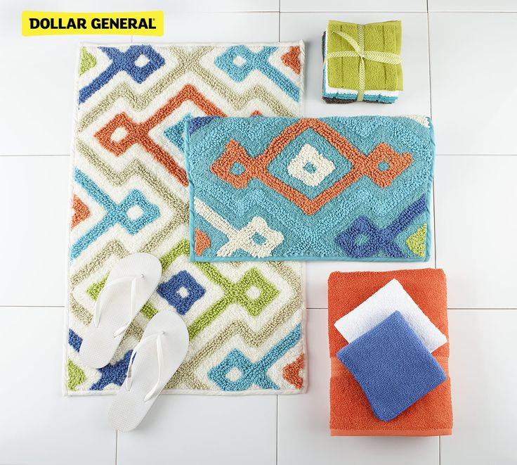 Grab your towels, bath mats and more at Dollar General.