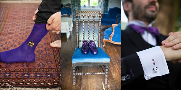Accessoires pour le marié : chaussettes sur mesure Tabio, chaussures Paul Smith et boutons de manchette Findstotreasure sur Etsy - Preparatifs de mariage - La Fiancée du Panda Blog Mariage & Lifestyle