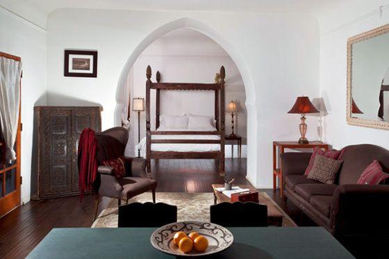 Spanish style bedroom in Palm Springs
