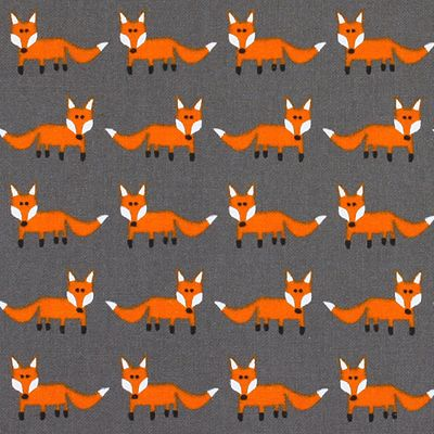 Standing Fox 2 - Coton - Polyester - gris