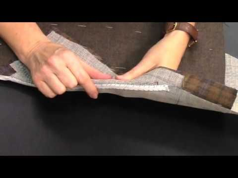 How to Pad Stitch or Feather Stitch a Suit Coat Lapel - YouTube