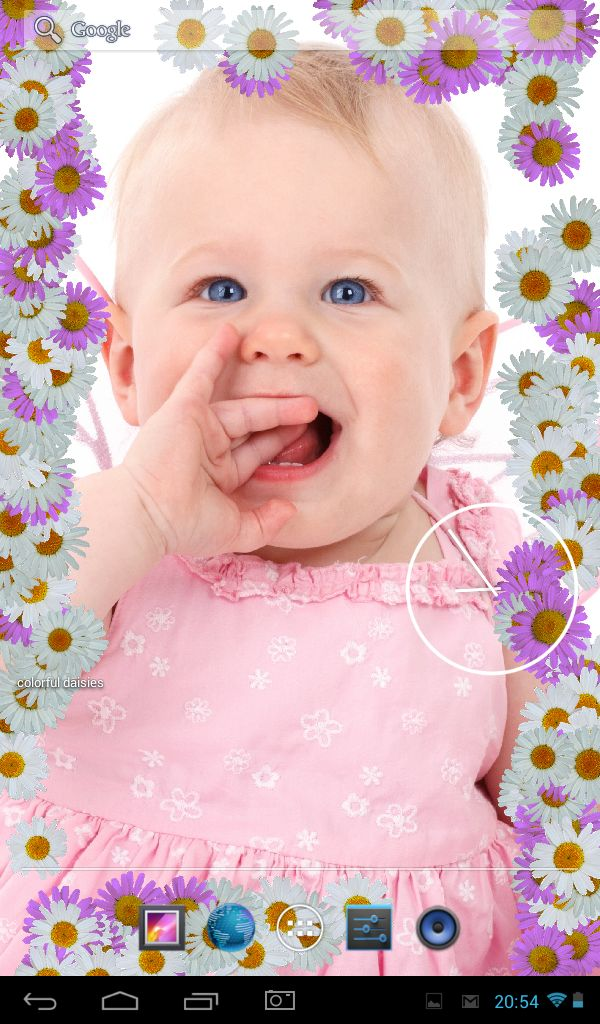 8 best android live photo frame images on pinterest baby baby turn you android phone or tablet into live photo frame with colorful daisies free live wallpaper voltagebd Image collections