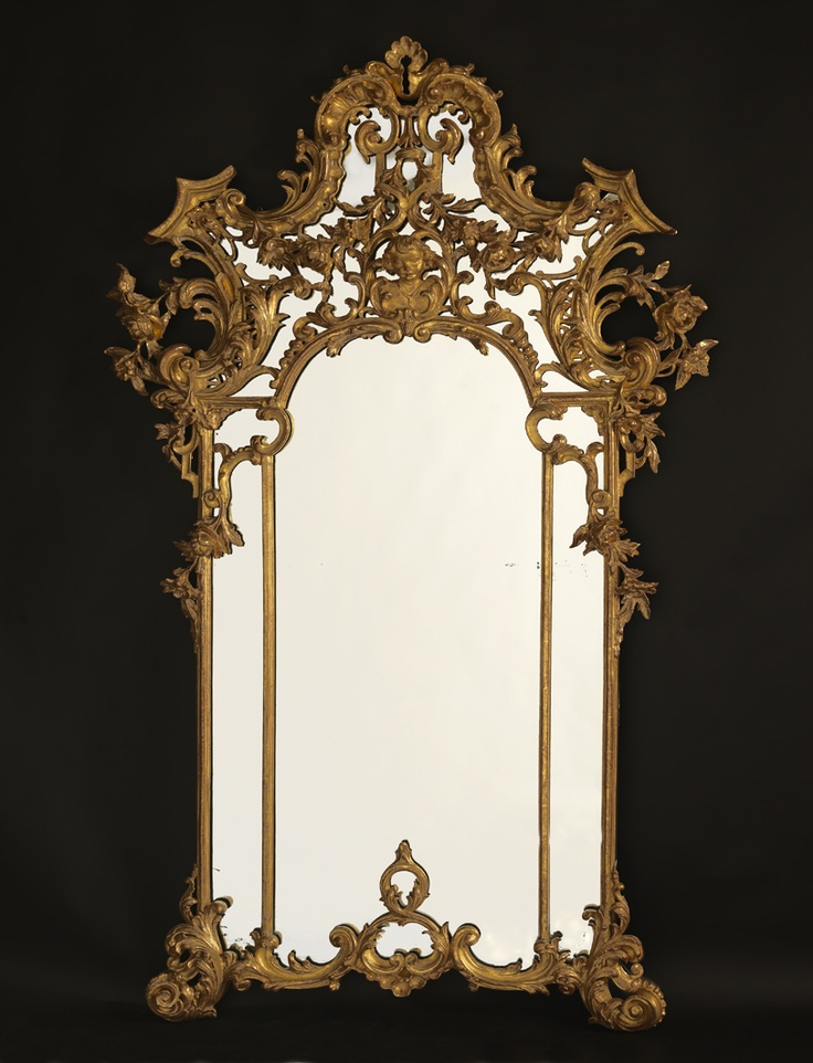A Fine and Ornate Antique Rococo Style Giltwood Mirror, Italian, Circa 1890.