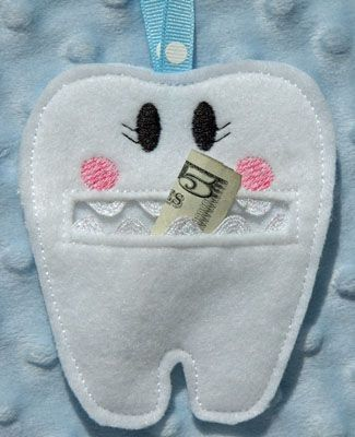 In the Hoop Tooth Fairy Pouch Machine Embroidery Design created by Embroidery Garden by revspinnin54