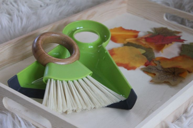 Montessori Tray - Practical Life Sweeping Work by NaturaBaby on Etsy https://www.etsy.com/listing/211768509/montessori-tray-practical-life-sweeping