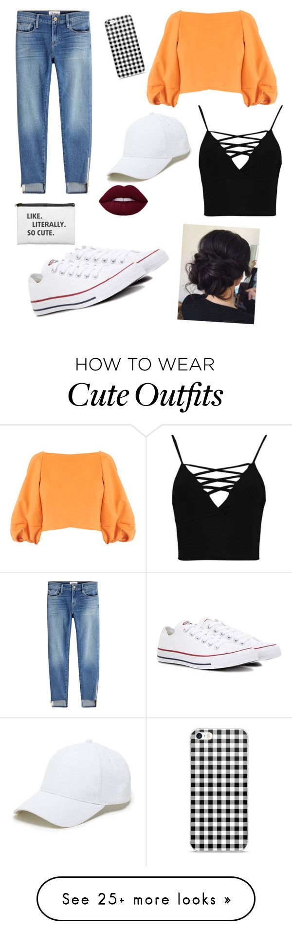 """i really like this outfit"" by kahalicorona on Polyvore featuring Frame, TIBI, Boohoo, Converse and Sole Society"