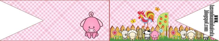 Baby Farm in Pink: Free Party Printables.   Oh My Baby!