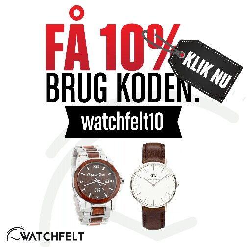 Få 10% rabat på hele shoppen. Gør årets julehandel hos www.watchfelt.dk  #danielwellington #originalgrain #casio #eyki #modeure