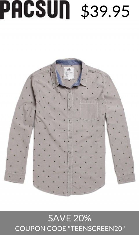 Save With Us! - Mens On The Byas Shirt - On The Byas Smoke Em Long Sleeve Woven Shirt
