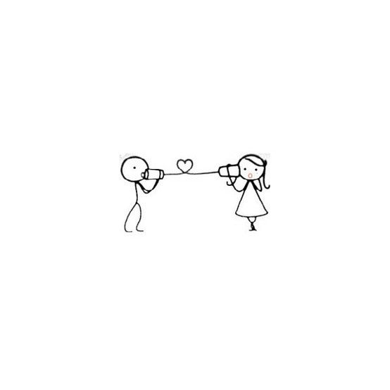 stick figure boy and girl ♥ that would make a gorgeous tattoo!