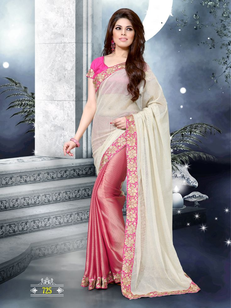 Simple party wear saree