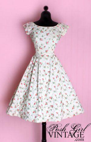 Lindos vestidos dos anos 50