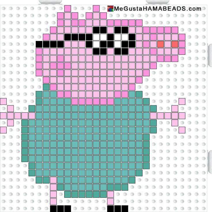 Peppa Pig Daddy Pig hama perler beads pattern