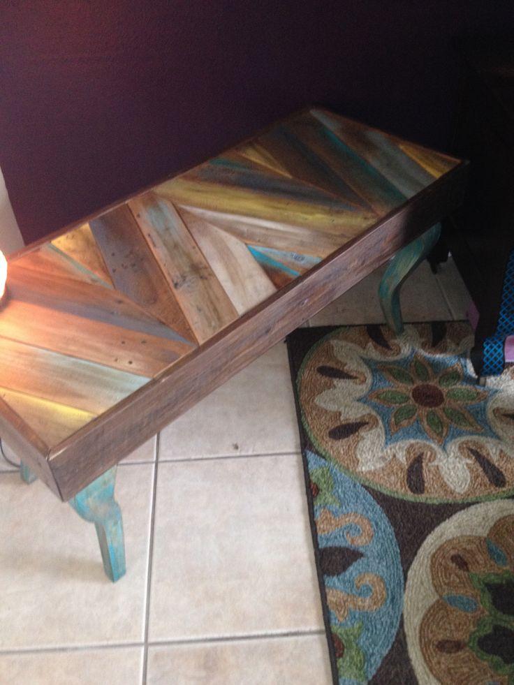Chevron pallet table/bench