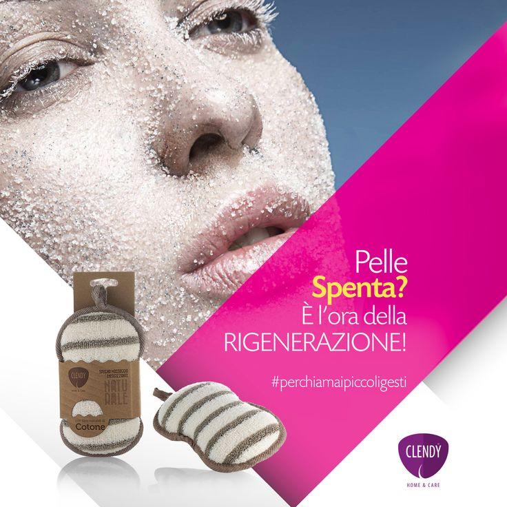 Pelle spenta? È l'ora della rigenerazione! La Spugna massaggio energizzante, rivestita di fibre 100% naturali, si prende cura della tua pelle rendendola liscia e luminosa. Pratica e maneggevole è l'accessorio ideale da portare con te, in palestra o in viaggio.  Spugne Naturali Clendy. Per una pelle naturalmente compatta e levigata!    #perchiamaipiccoligesti #clendy #bellezza #pelle #beauty #cellulite #corpo www.clendy.it