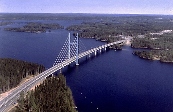 Tähtiniemi Bridge in Heinola, Finland